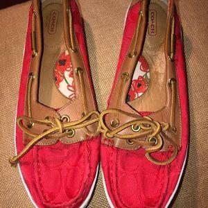 Coach Richelle Boat Shoes~Womens